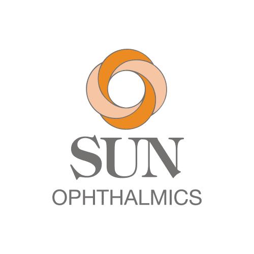 Orange and gray Sun Ophthalmics logo